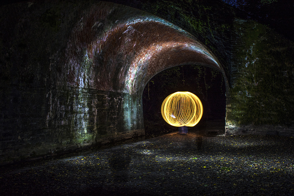 A 62 second long exposure to create a glowing orb. Great fun to create.